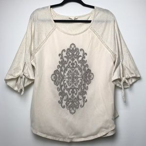 Artisan Crafted by Democracy Embroidered Shirt